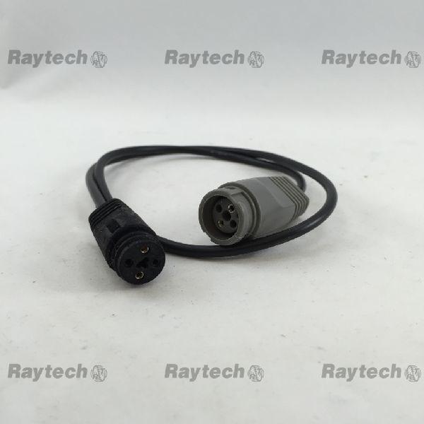 TA-303BK, Câble d Adaptation pour Sonde à Connecteur Gris à un Appareil Connecteur Noir (UniPlug)