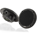 "Pair of Marine 6"" Shallow-Mount 2-Way Speaker 150 Watts Black"