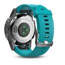 Fenix® 5s Argent avec Bracelet Turquoise