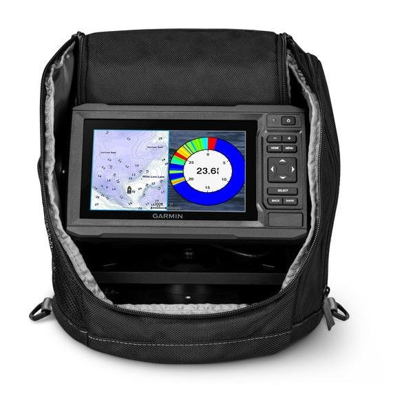 echoMAP™ PLUS 63cv, Sonar/GPS, ClearVü™, US LakeVü G3 Ice Fishing Bundle