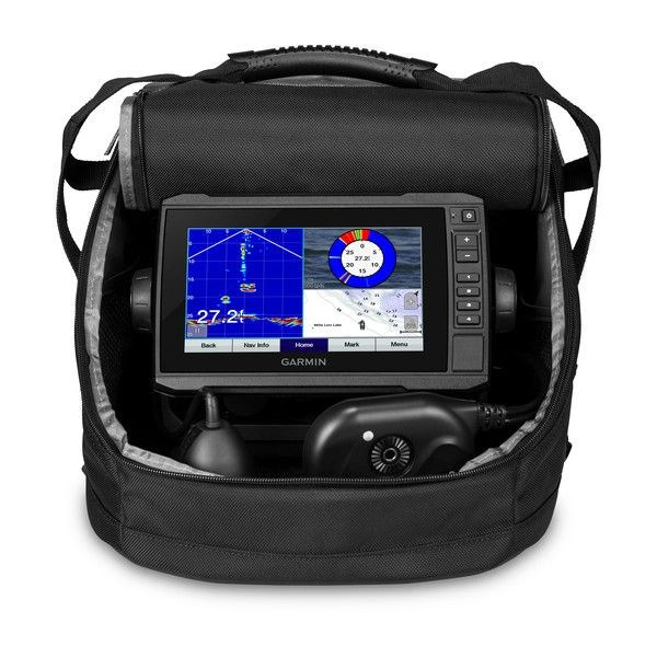 echoMAP™ PLUS 73cv, Sonar/GPS, ClearVü™, US LakeVü G3 Panoptix™ Ice Fishing Bundle