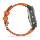 fenix® 6 - Éditions Sapphire - Titane avec Bande Orange de Braise