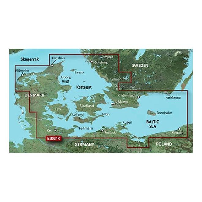 BlueChart® G3 - Denmark East & Sweden SE - HXEU021R