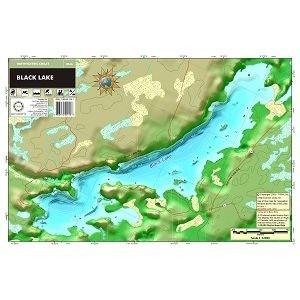 Carte papier du lac Black