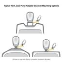 """Raptor Jack Plate Adapter Bracket - Port 6"""" Black"""