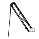Raptor Shallow Water Anchors -  8 ft Black with active anchoring