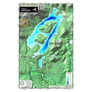 Carte papier du lac Placid