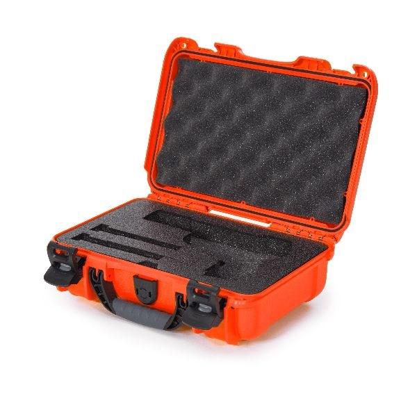 Mallette Nanuk 909 Orange avec Mousse Pré-Coupé pour un Pistolet Classic