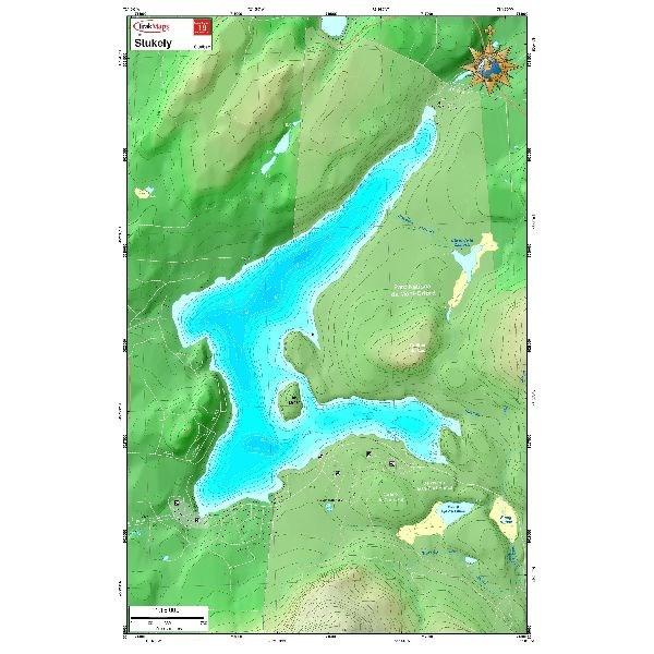 Carte Papier : Lac Stukely