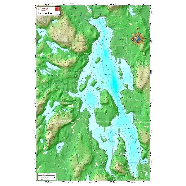 Carte Papier : Lac-des-Îles