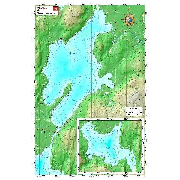 Carte Papier : Lacs Nominingues - Grand et Petit