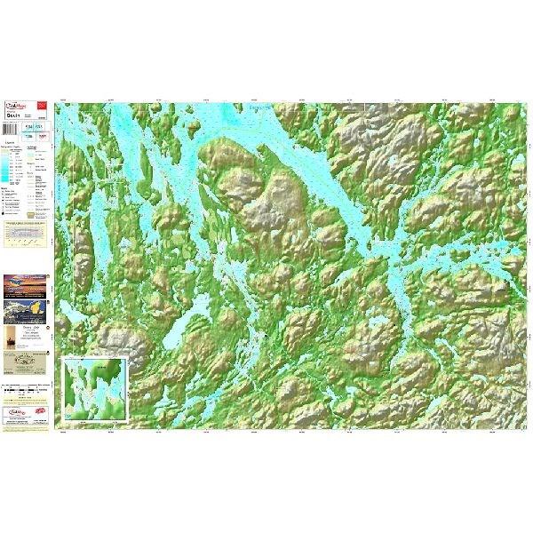 Carte papier du réservoir Gouin section Sud-Est